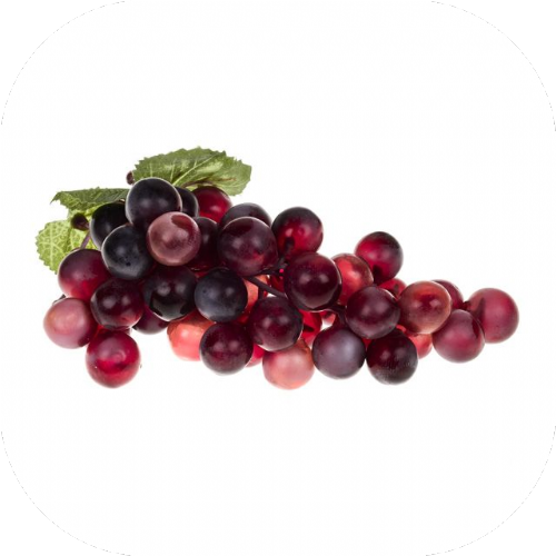 Artificial Bunch Of Grapes Red 20 cm